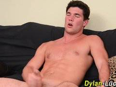 Muscle surfer hunk cums
