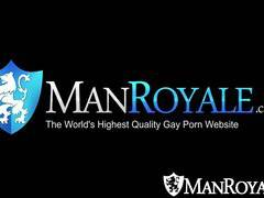 HD - ManRoyale Latino guy gets ass coverd cum