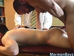Teen mormon elder cums