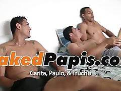 Carita, Paulo y Trucho