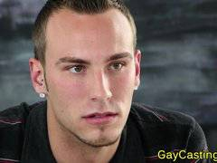 Pierced hunk takes facial at gaycastings