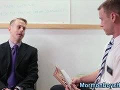 Mormon gets jizz guzzled