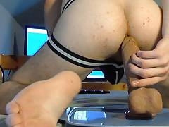 Riding my 8 inch Dildo