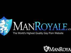 HD ManRoyale - Cute guy jerking off gets fuck