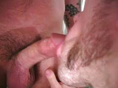 Hairy ass threesome breeding