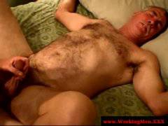 Smoking redneck bear bareback fucked