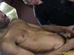 Gay guy sucking straight black guys cock