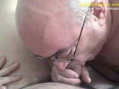 Hung Silverdaddy Grandpa sucking my uncut coc