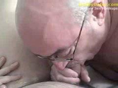 Hung Silverdaddy Grandpa sucking my uncut coc