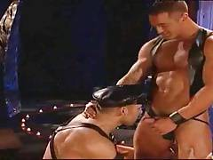 Gay leather muscle