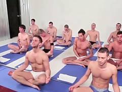 Gay yoga class