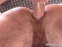 Two horny gay are half naked on a work,
