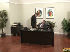 Gay Blowjob and anal fuck in the office