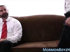 Mormon rides bishops dick