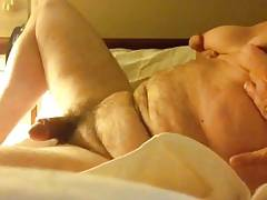 Artemus - Huge Nippled Man Tits Strokes Off For Cum