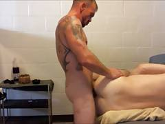 Worshipping an alpha male marine's cock