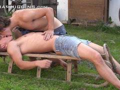 Summer garden fun - Paul and Martin