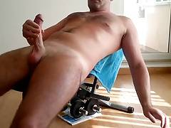 Str8 men play in weight bench
