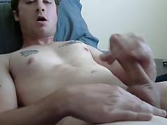 Str8 daddy cum in his belly