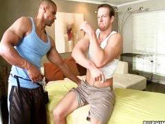 Alex gets massage