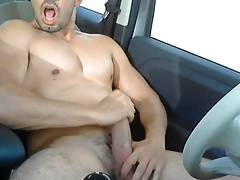 French dude! cum outdoor