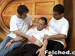Threesome Gay Hardcore Felching