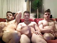 str8 3 buddys jerking together