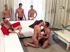 Latinos bareback orgy (5 hunks)