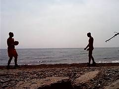 Str8 football in the beach