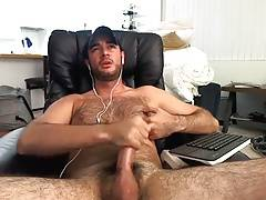 Hairy Edger Gives Up His Load