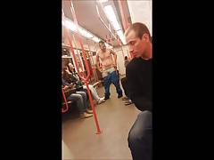 Str8 guy stripped in metro