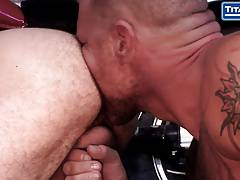 Huge Tattooed Mechanic Fucks Hairy Coworker