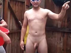 Str8 ice bucket challenge naked