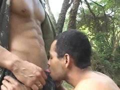 Raw ass-fucking outside