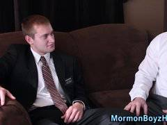 Undies mormon shoots jizz
