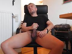 Stroking thick dick
