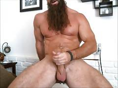 long bearded muscle guy solo #2