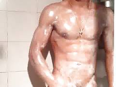 Horny hunks in shower 5