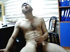Masturbating Turkey-Turkish Hunk Kamil At The Office