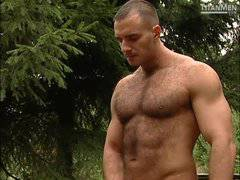 Francois Sagat and More Muscular Men Pissing