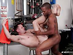 Next Door Buddies Brenner Bolton Getting Fucked By Big Black