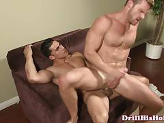 Muscle dominating his bottom with assfucking