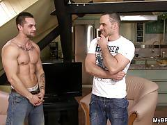 Two gay brutal looking dudes fucking