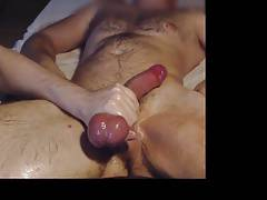 Me milk ballmassage ballbust hung hairy stud