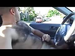 Horny hunks in car 6