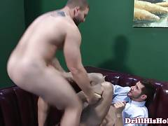 Muscle stud pounding ass piledriver