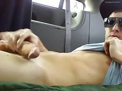 Horny hunks in car 7