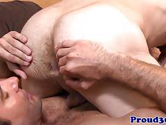 Mature hunk rimming and cocksucking