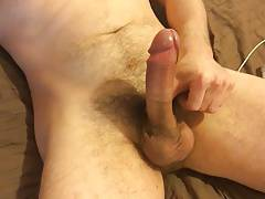 Double orgasm, big fat cock cum so hard