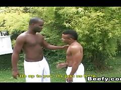 Black Porn Gay Having Hardcore Fuck Outdoor